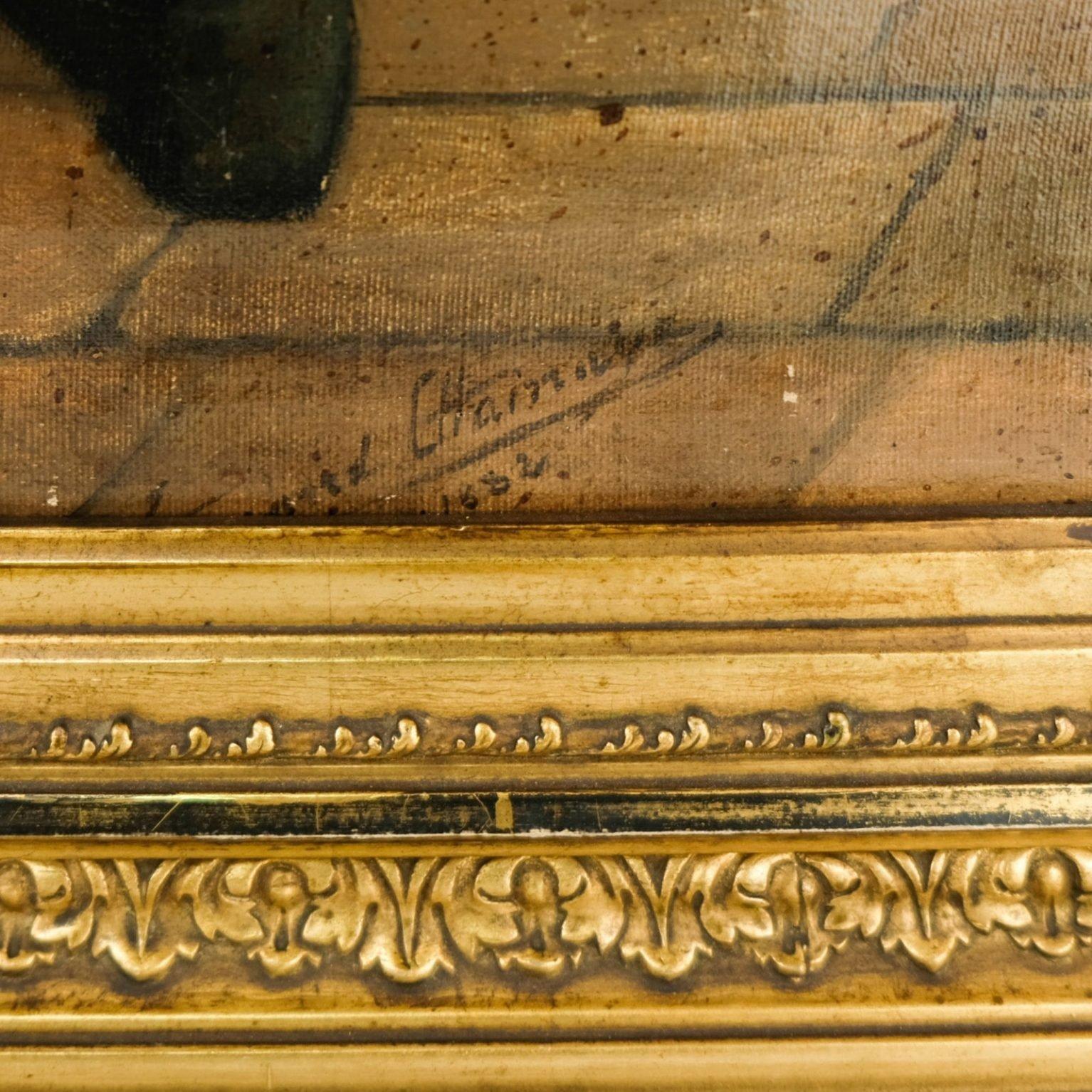 19e eeuws schilderij gesigneerd Chainaye