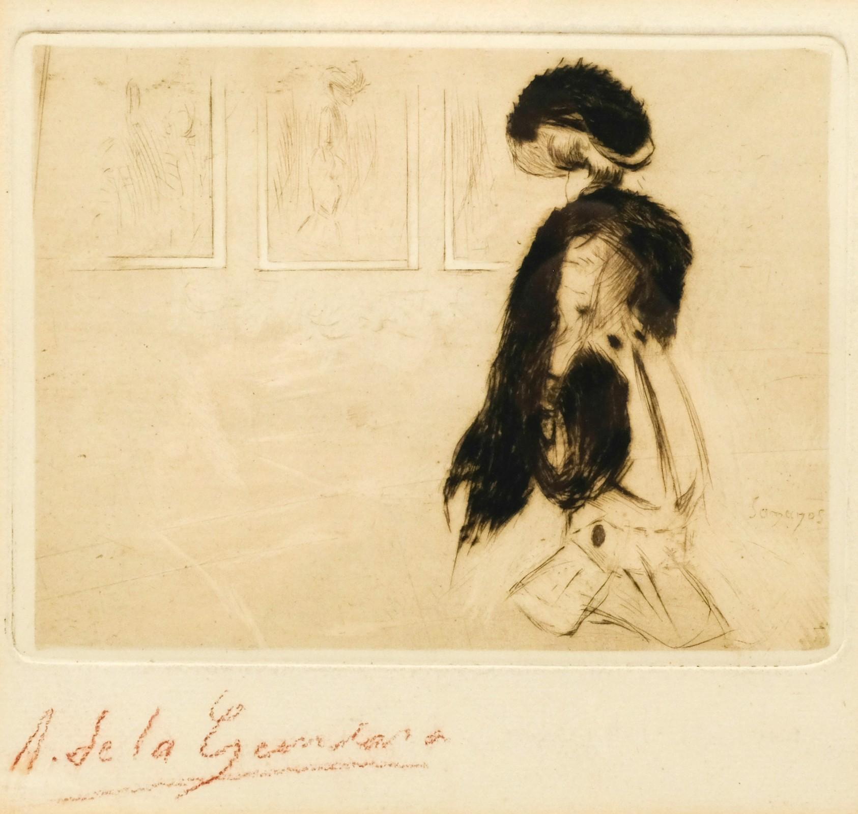 Antonio de la Gándera (1861-1917) – Bezoek aan een tentoonstelling