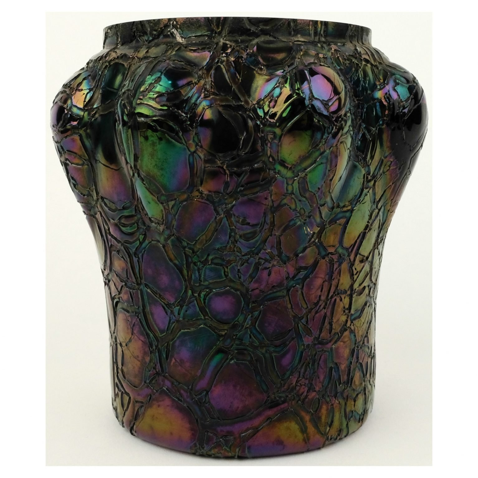 Art nouveau iriserende glazen vaas