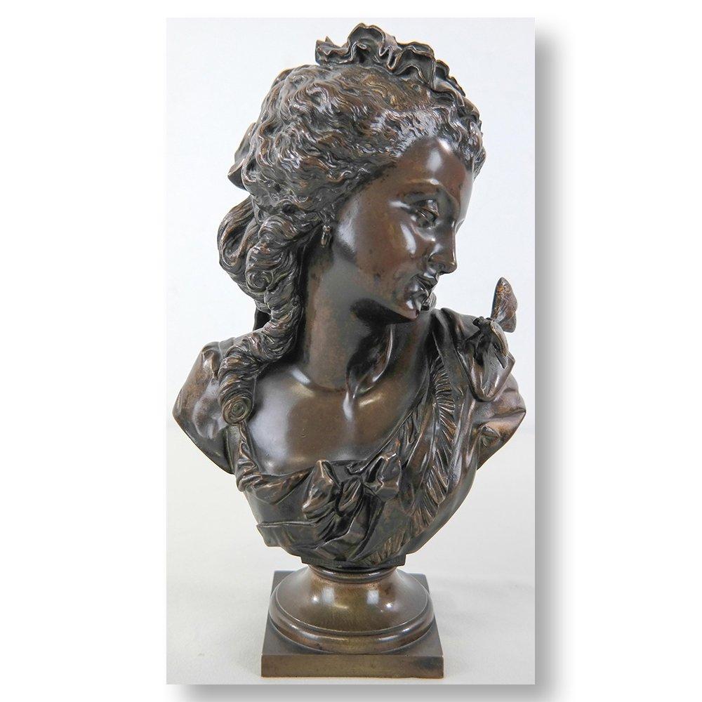 Auguste Joseph Peiffer (1832-1886) - Buste d'élégante