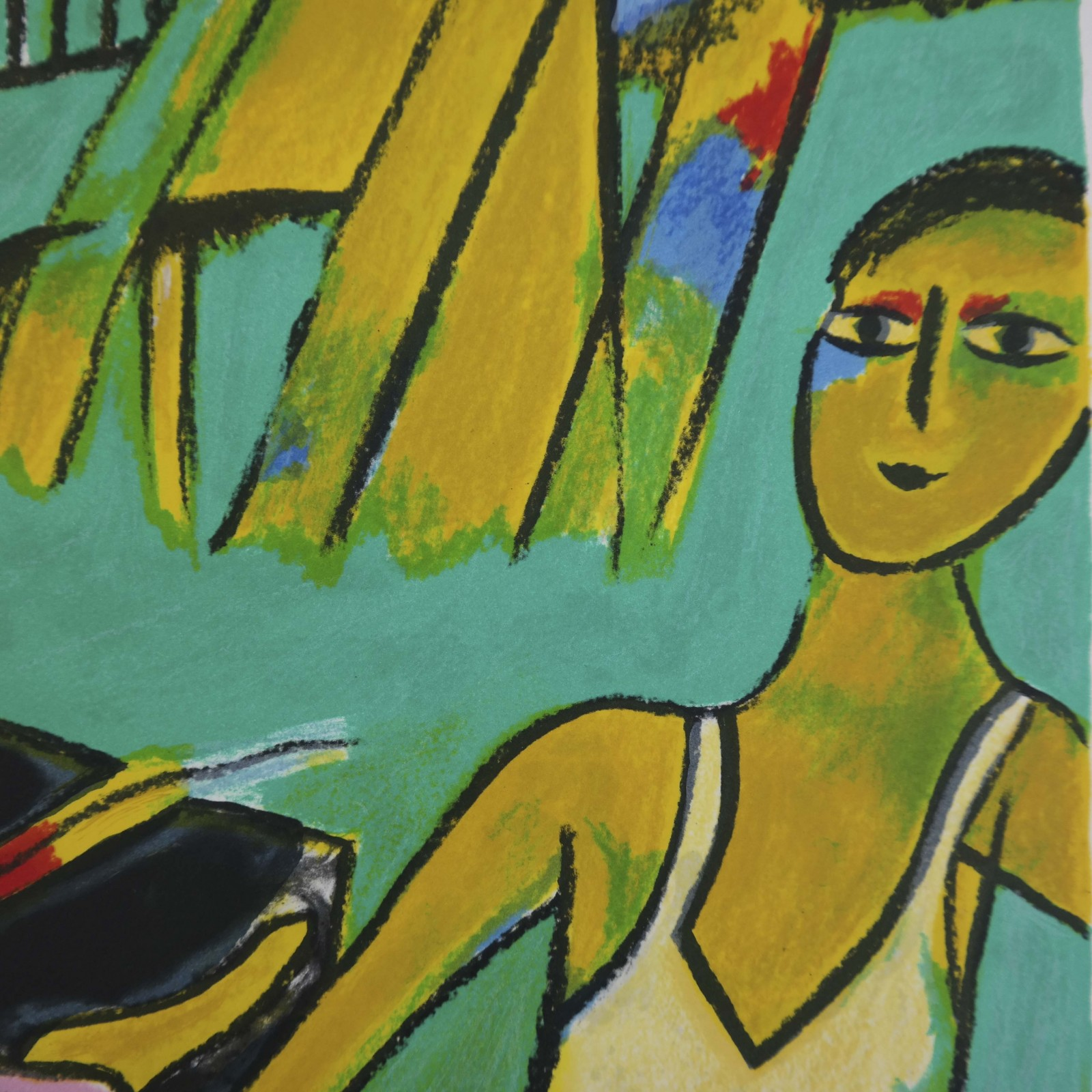 Corneille (1922-2010) – Vrouw, konijn en man