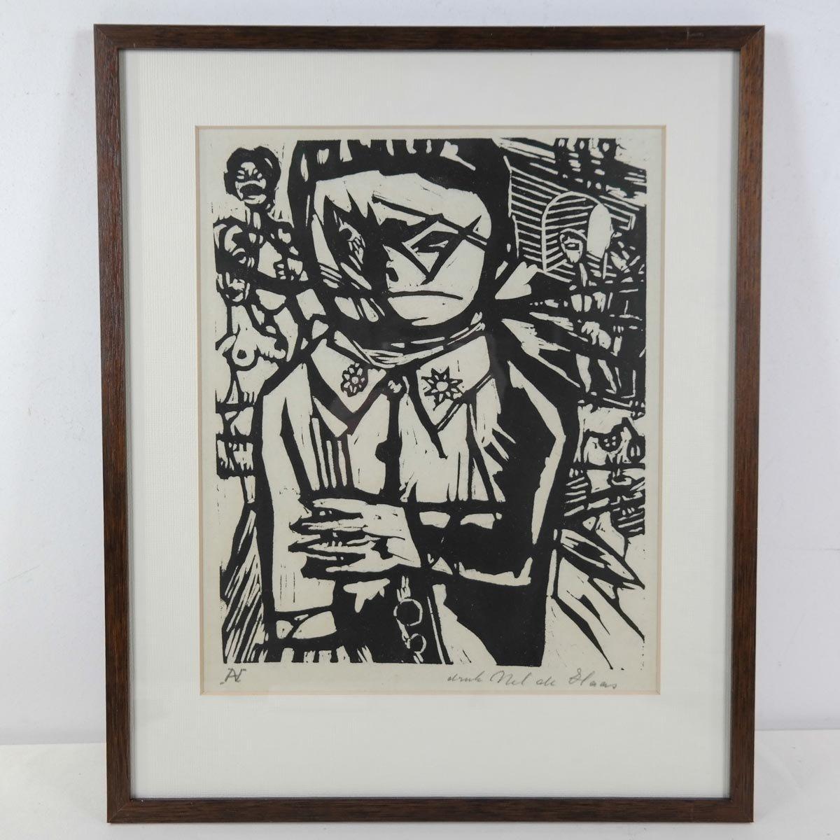 Aad de Haas (1921-1972) - Linosneden