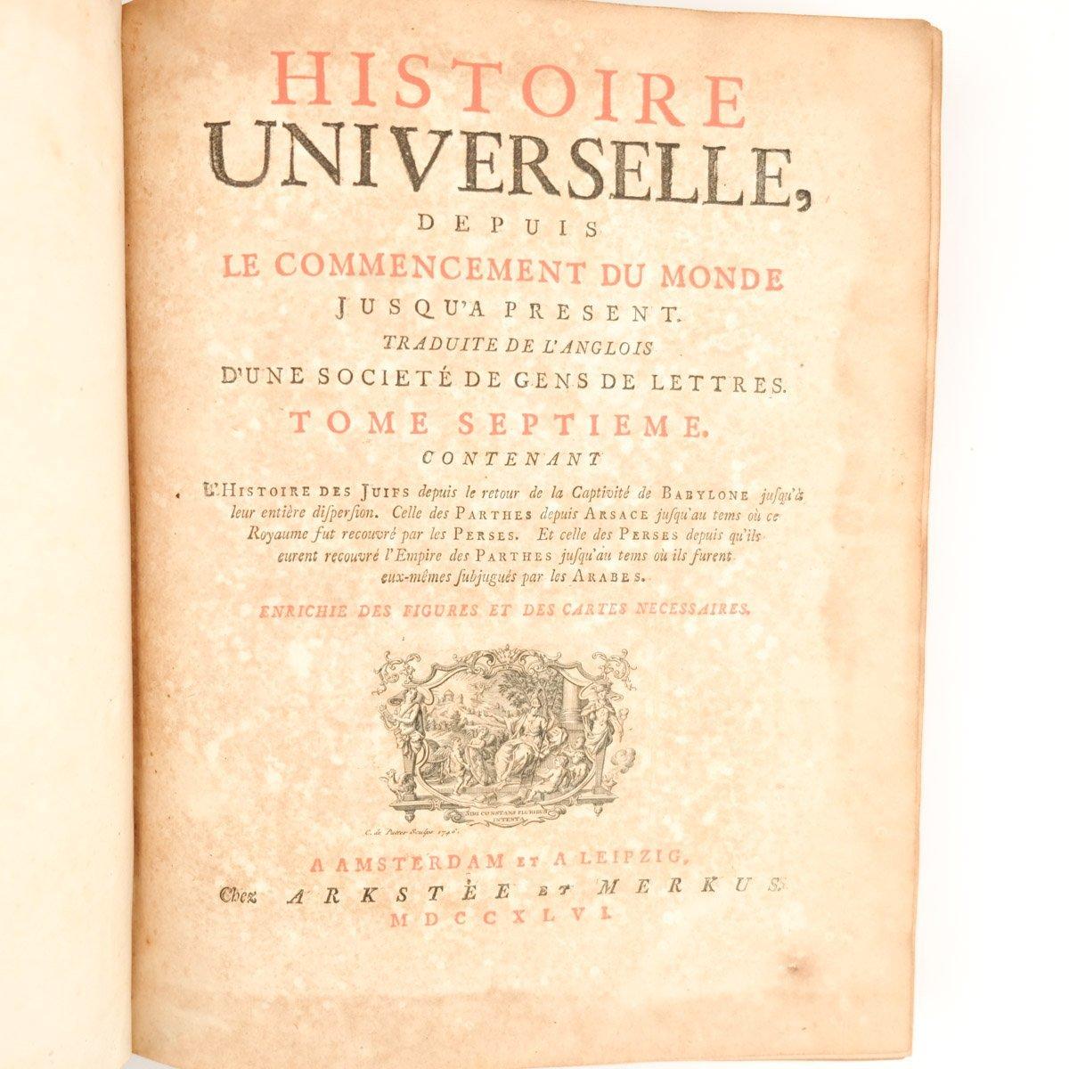 Histoire universelle depuis le commencement du monde jusqu a présent