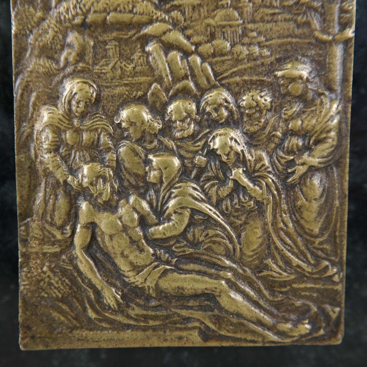 Italiaans bronzen laagreliëf (plaquette) uit de renaissance