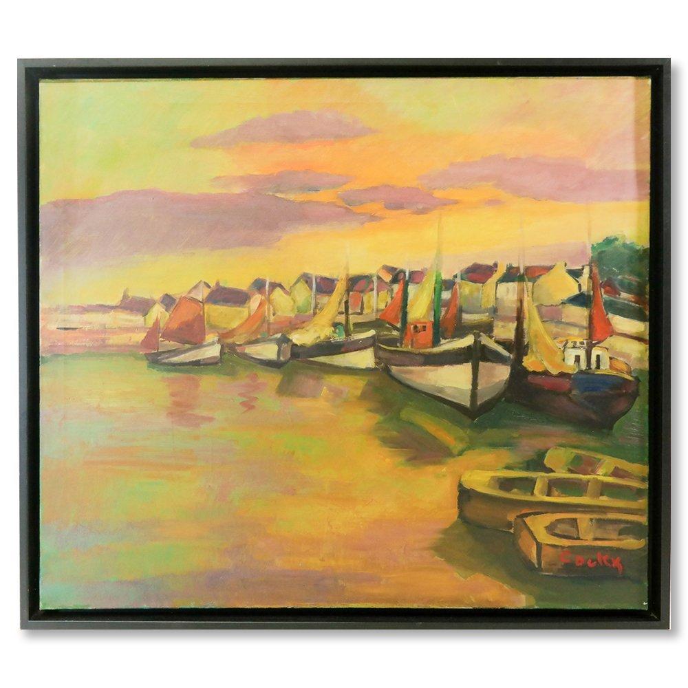 Jan Cockx (1891-1976) - Vissersboten in de haven