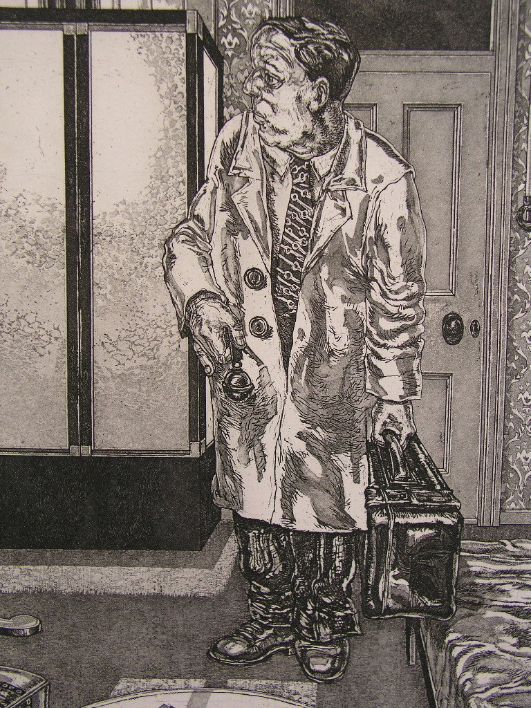 Jan van Helden (1932-2006) - Man in Hotelkamer