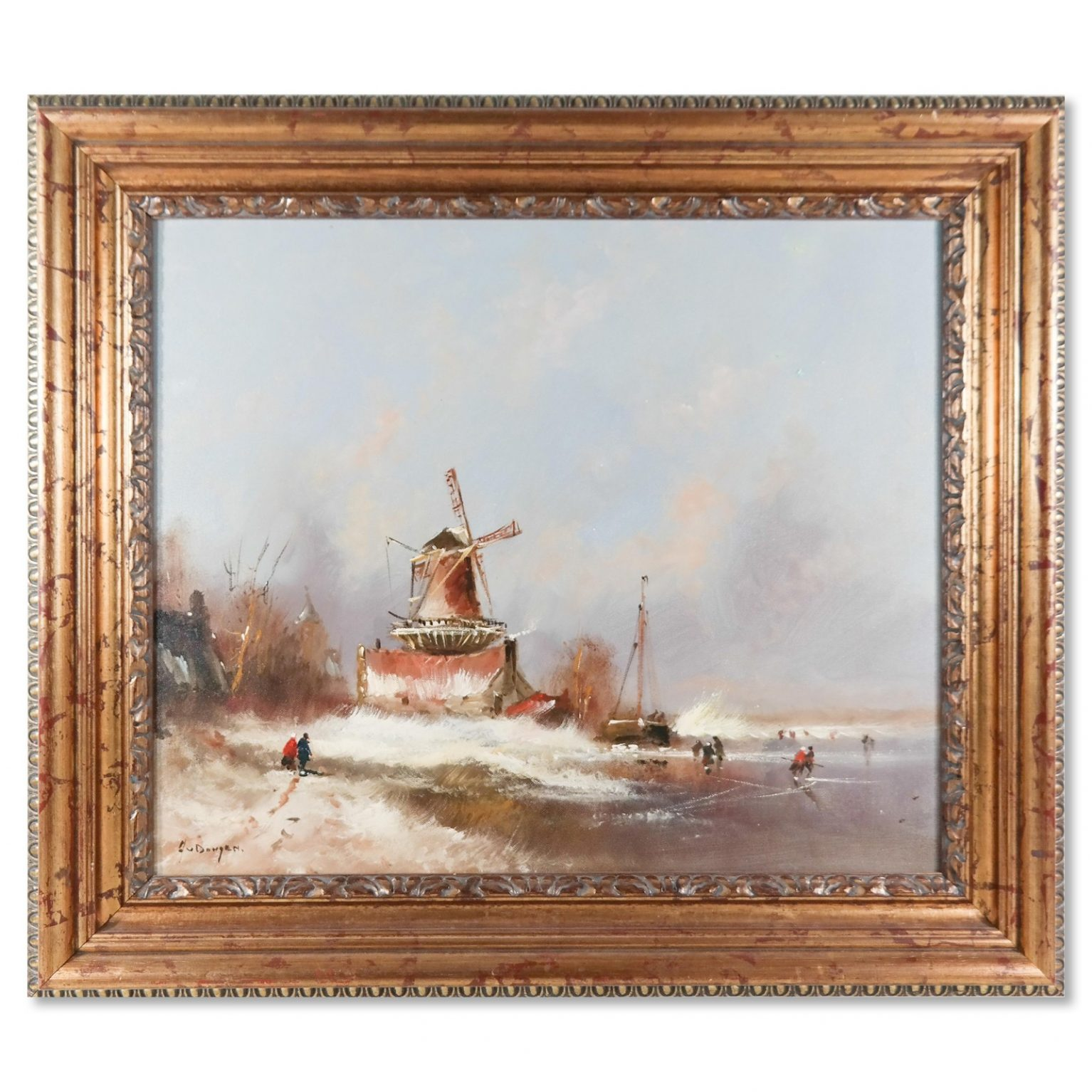 Jean van Dongen (1883-1970) – Landschap met molen