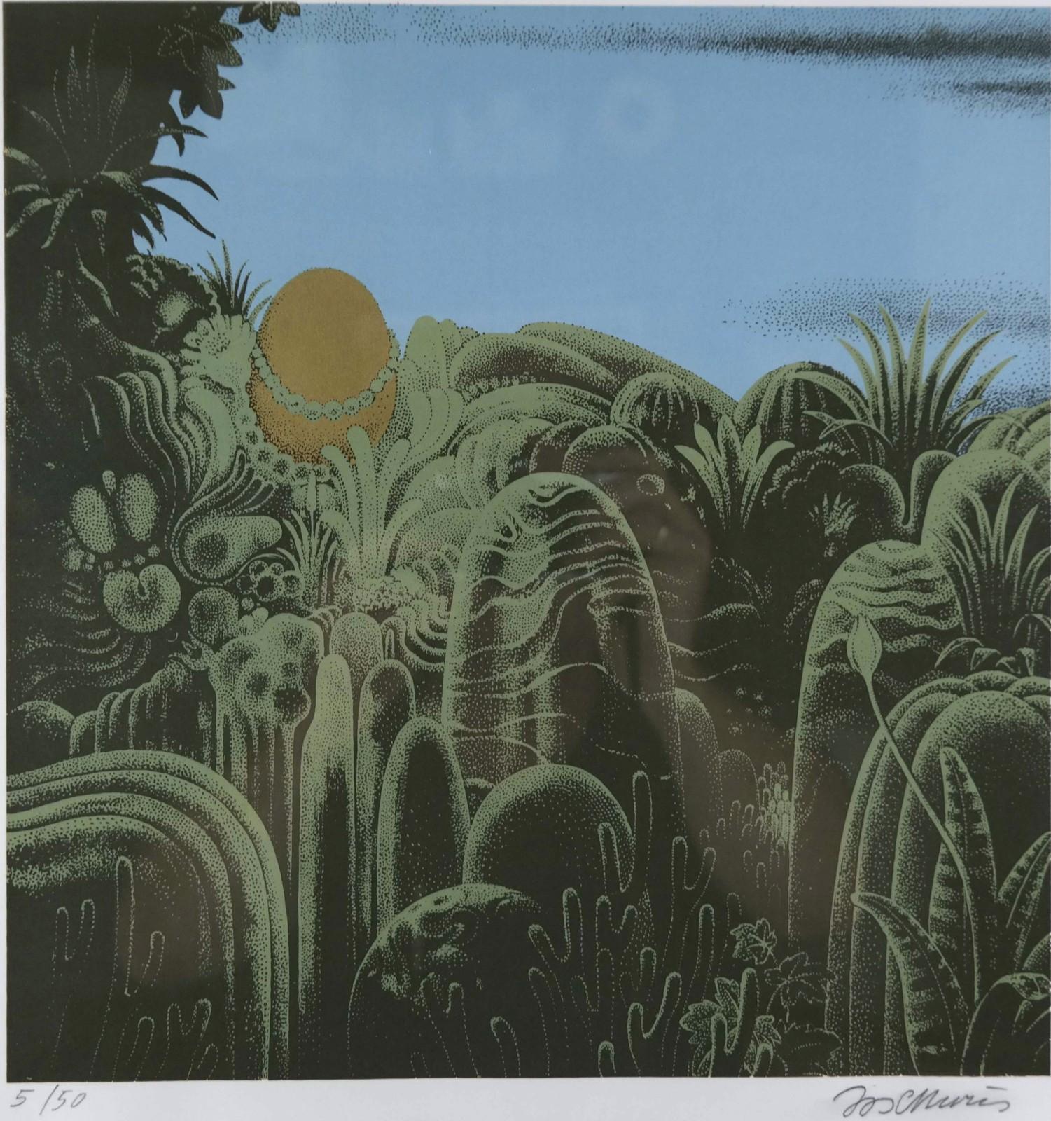Jos Muris (1936-1984) – Landschap met gouden ei