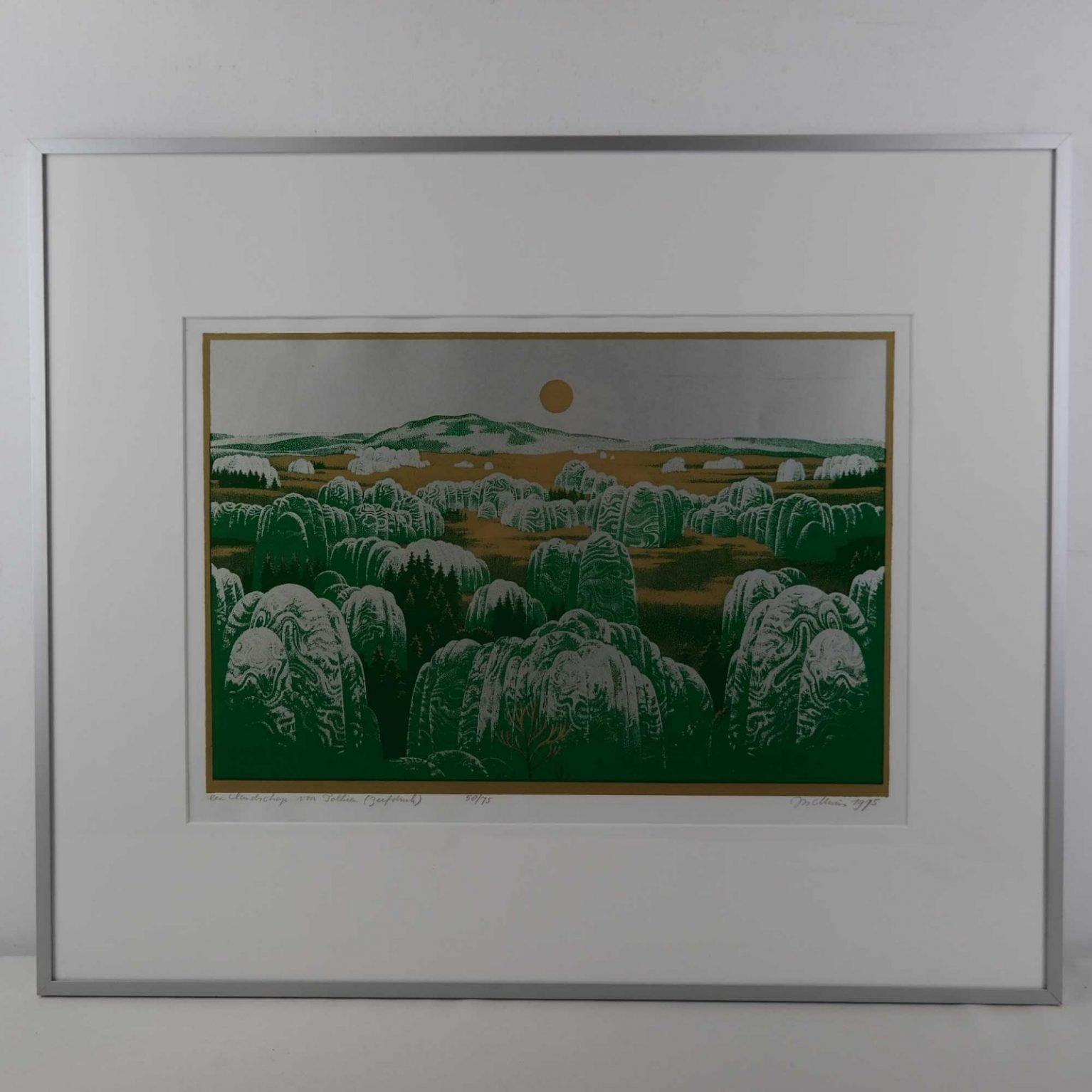 Jos Muris (1936-1984) -  Een landschap van Tolkien