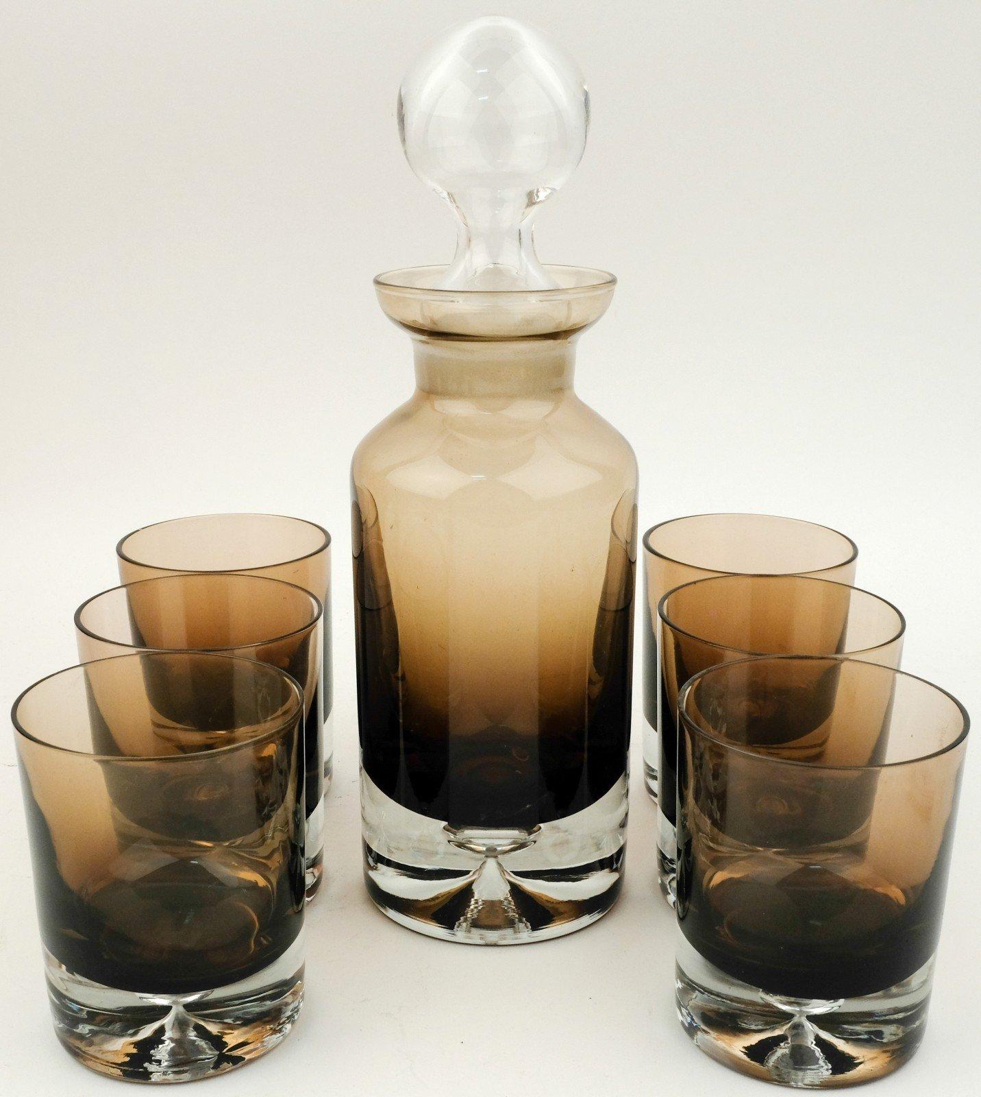 Karaf met zes glazen Denby Milnor Zweden