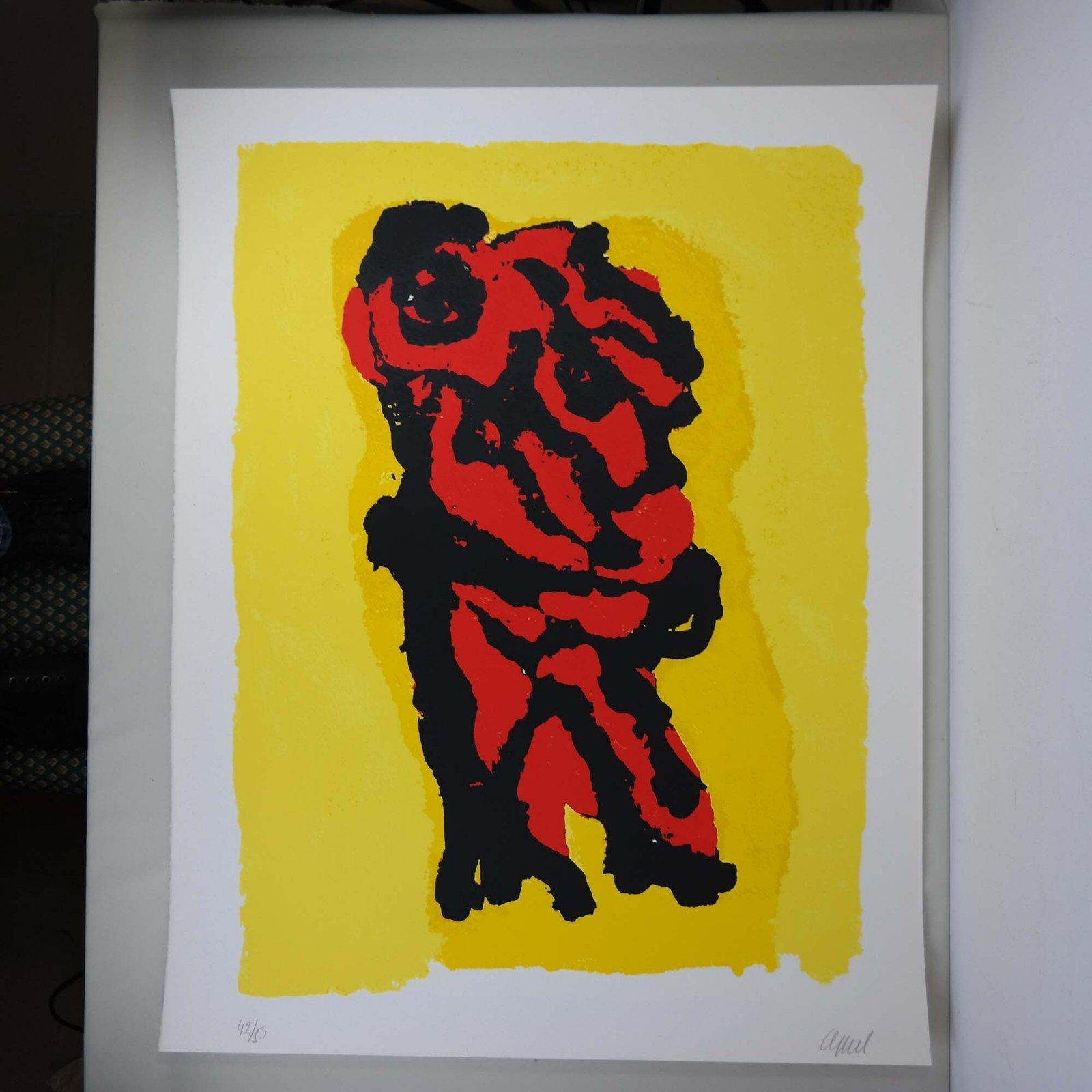 Karel Appel (1921 - 2006) - Personage Rouge Jaune