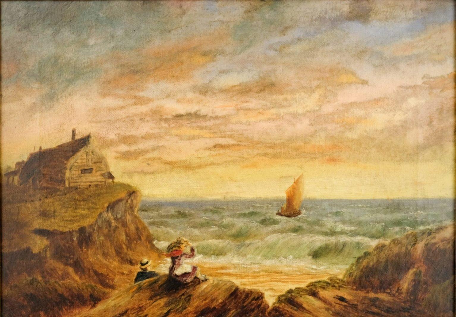 Laat 19e eeuws Engels zeegezicht