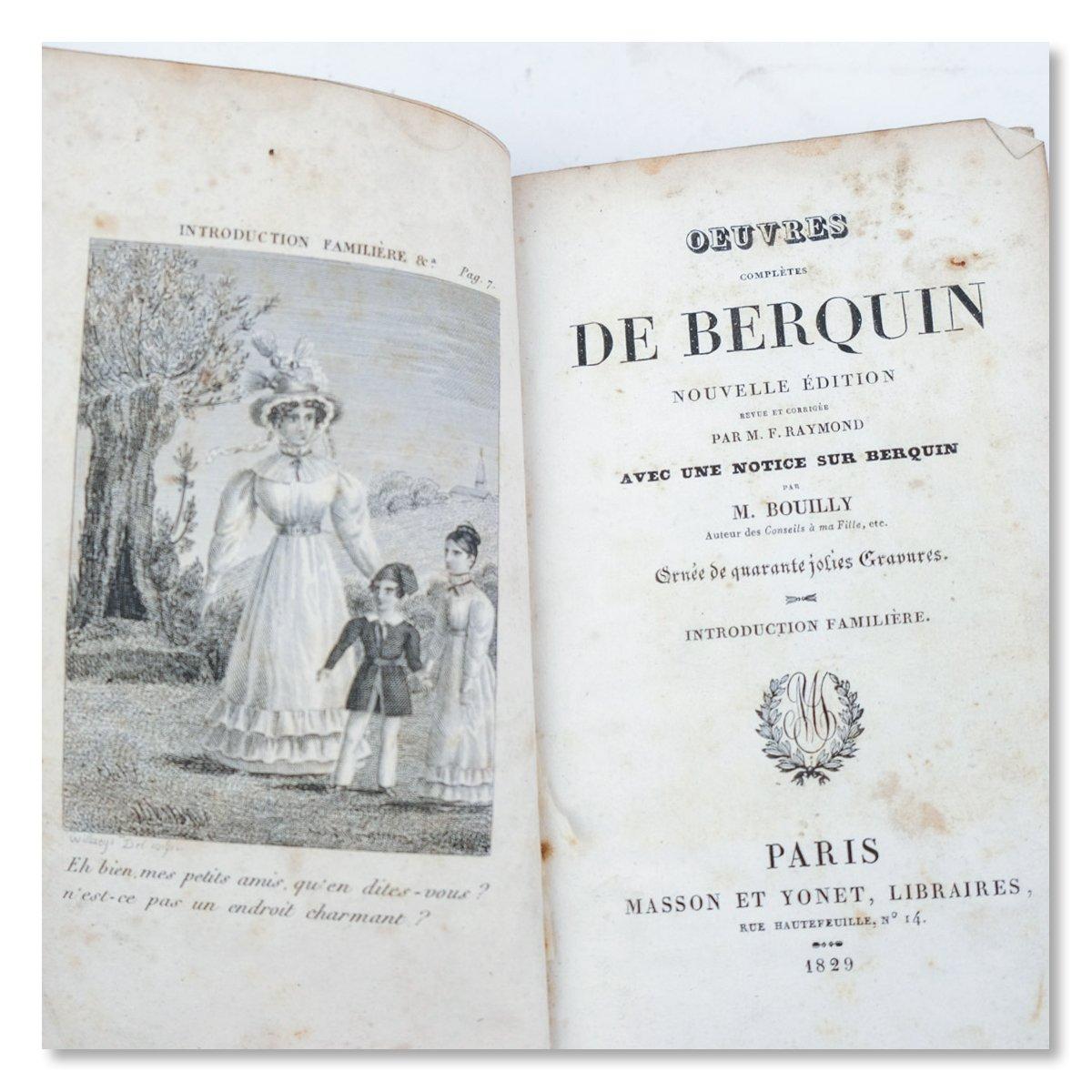 Oeuvres de Berquin, 4 delen, 1829