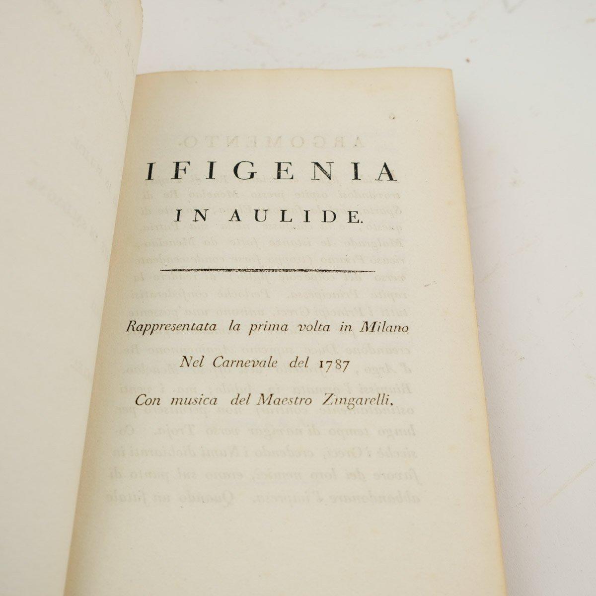 Operateksten van Ferdinando Moretti, vier delen, uitgave 1797