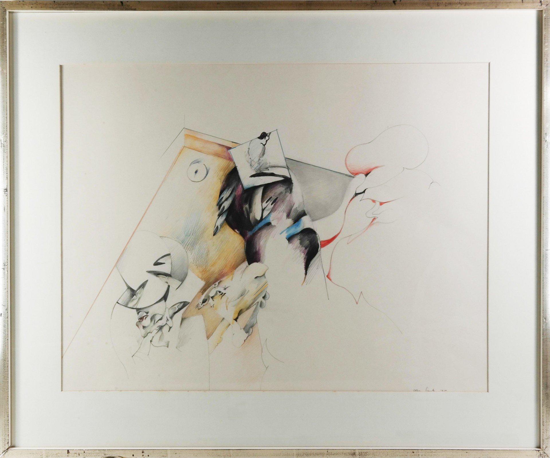 Pierre van Soest (1930-2001) - Compositie met geel