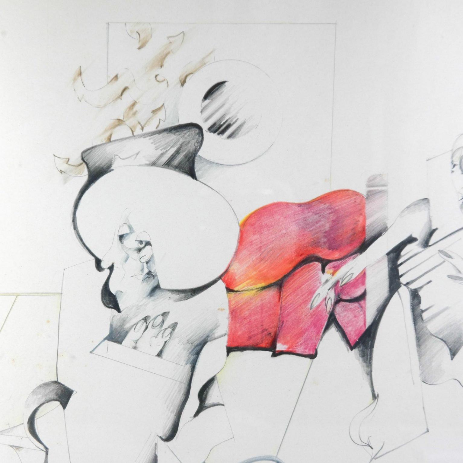 Pierre van Soest (1930-2001) - Compositie met rood