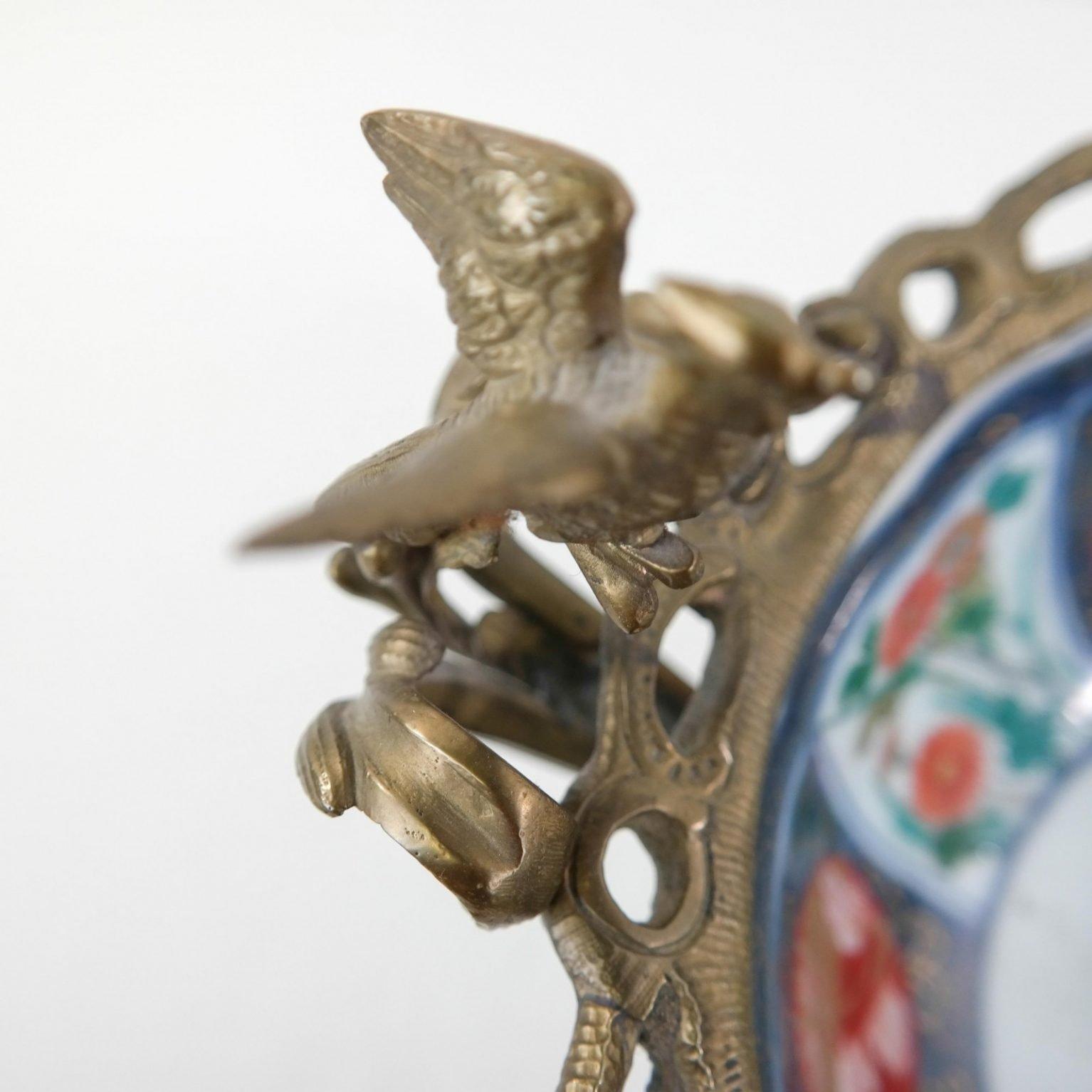 Samson Imari schaaltje in bronzen montuur met feniksen