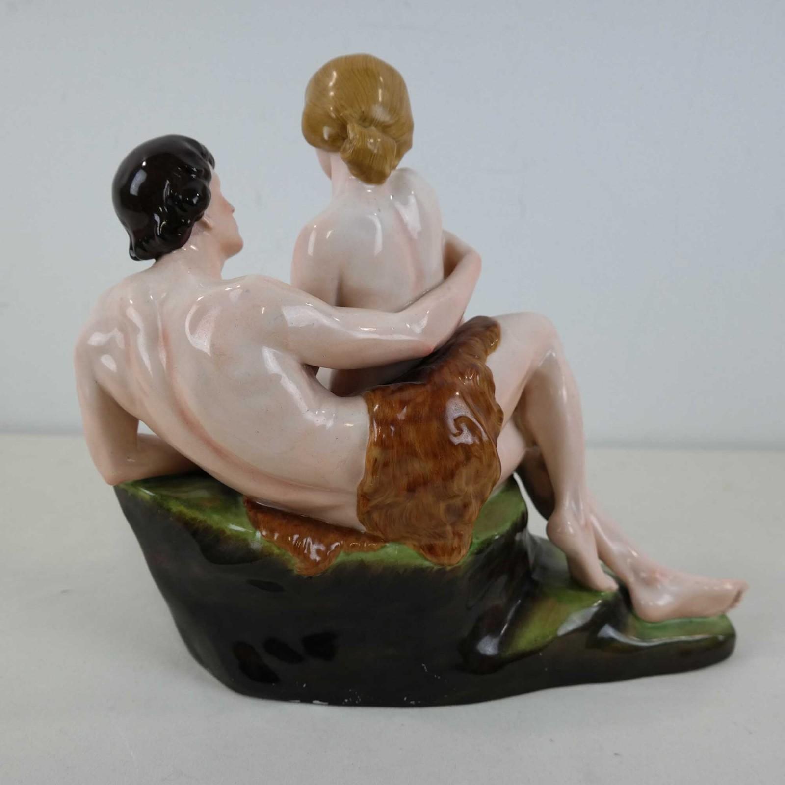Porzellanfabrik Fraureuth Naakt Man en Vrouw