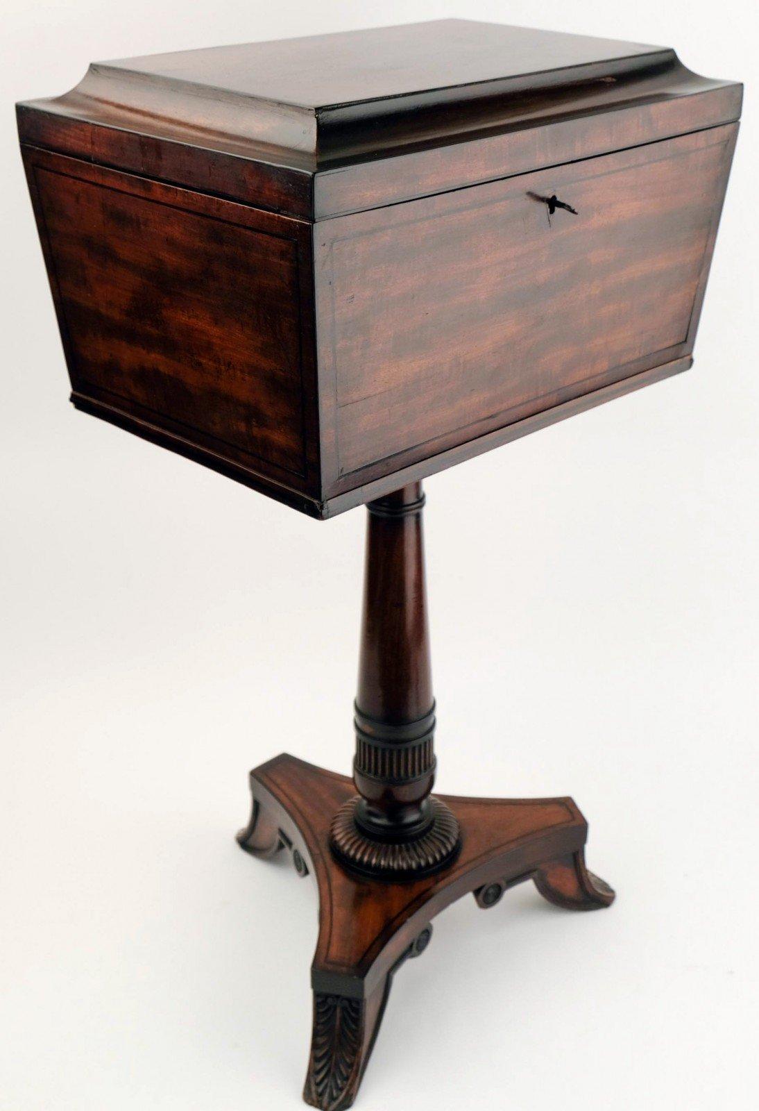 Regency rosewood teapoy ca 1810