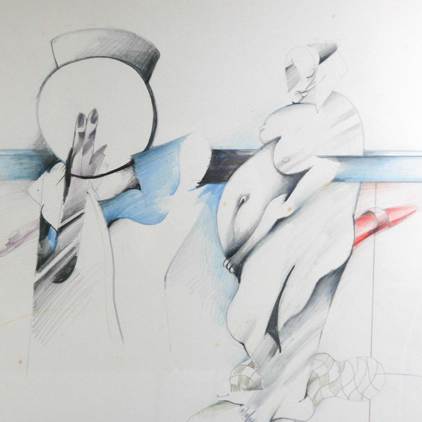 Pierre van Soest (1930-2001) - Compositie met naakt
