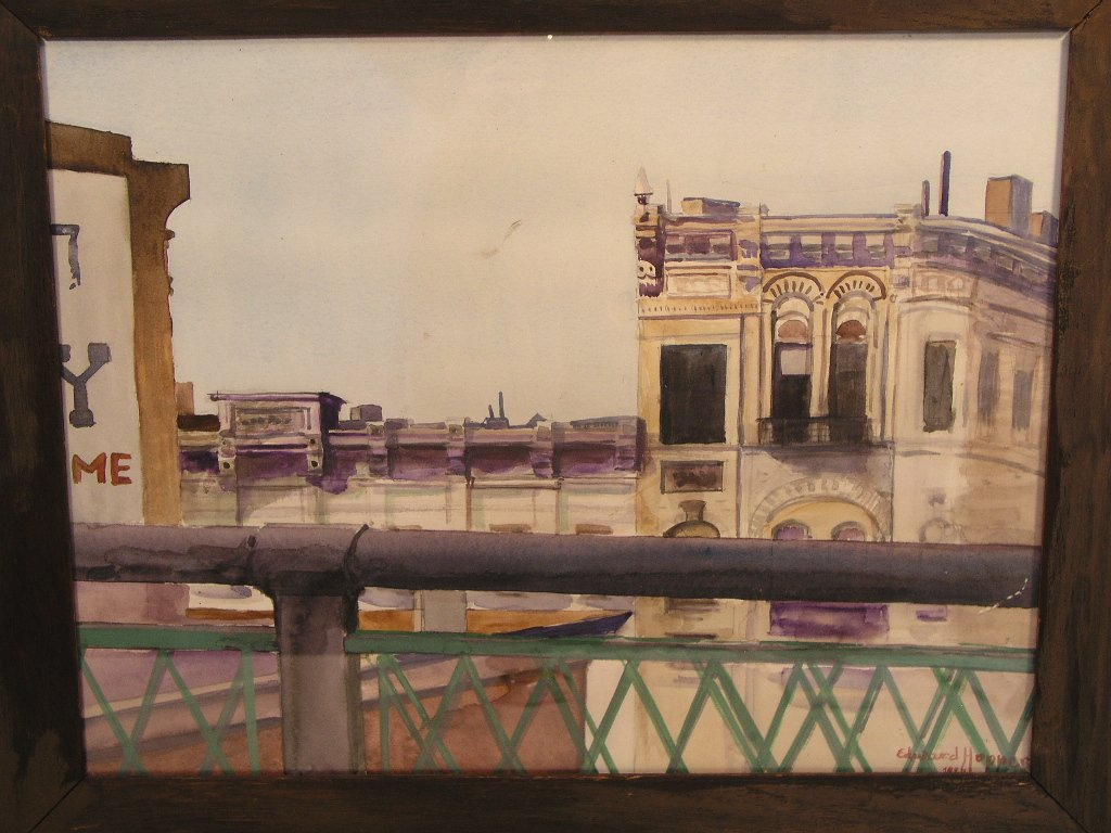 Werk gesigneerd 1926 Edward Hopper
