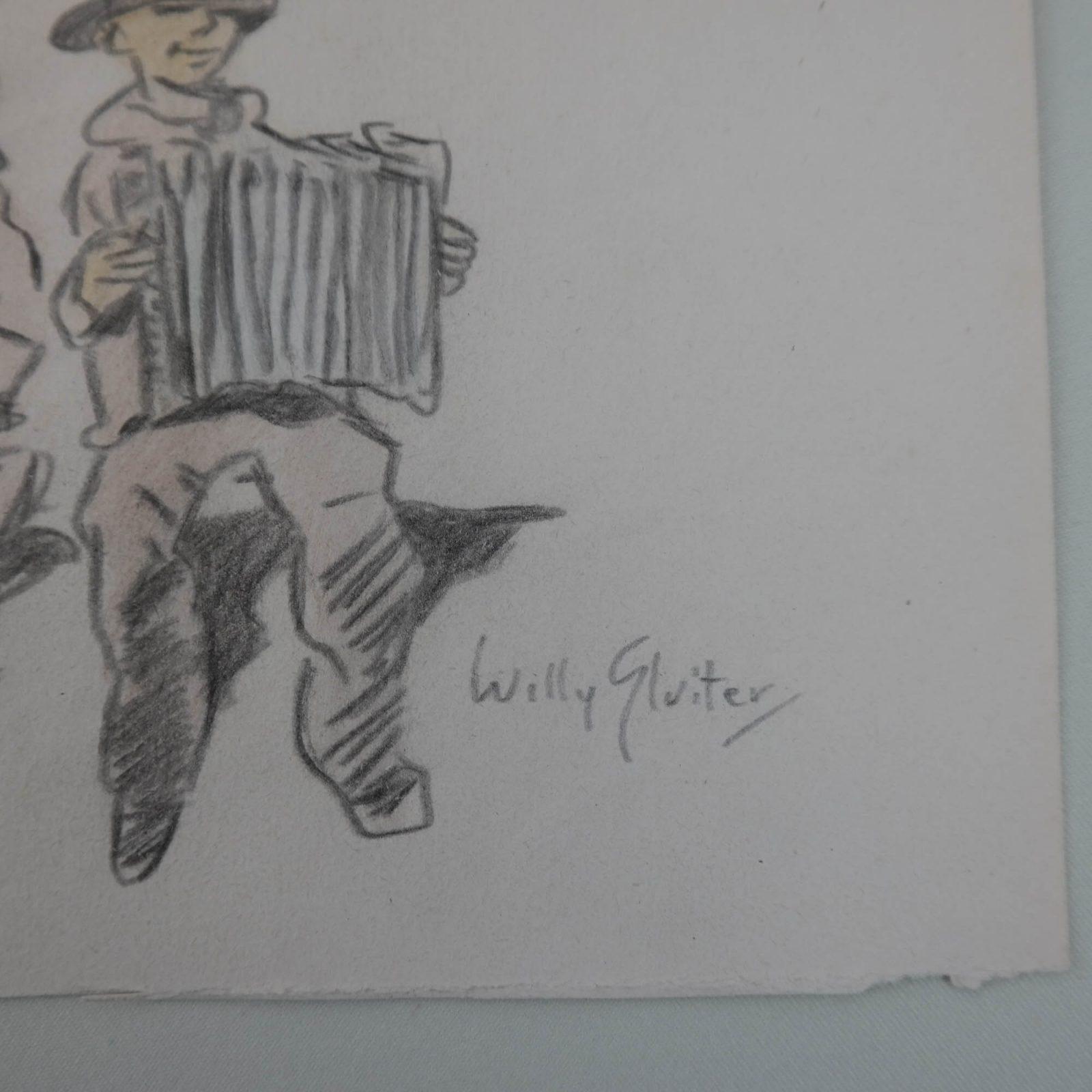 Willy Sluiter (1873-1949) – Man met accordeon
