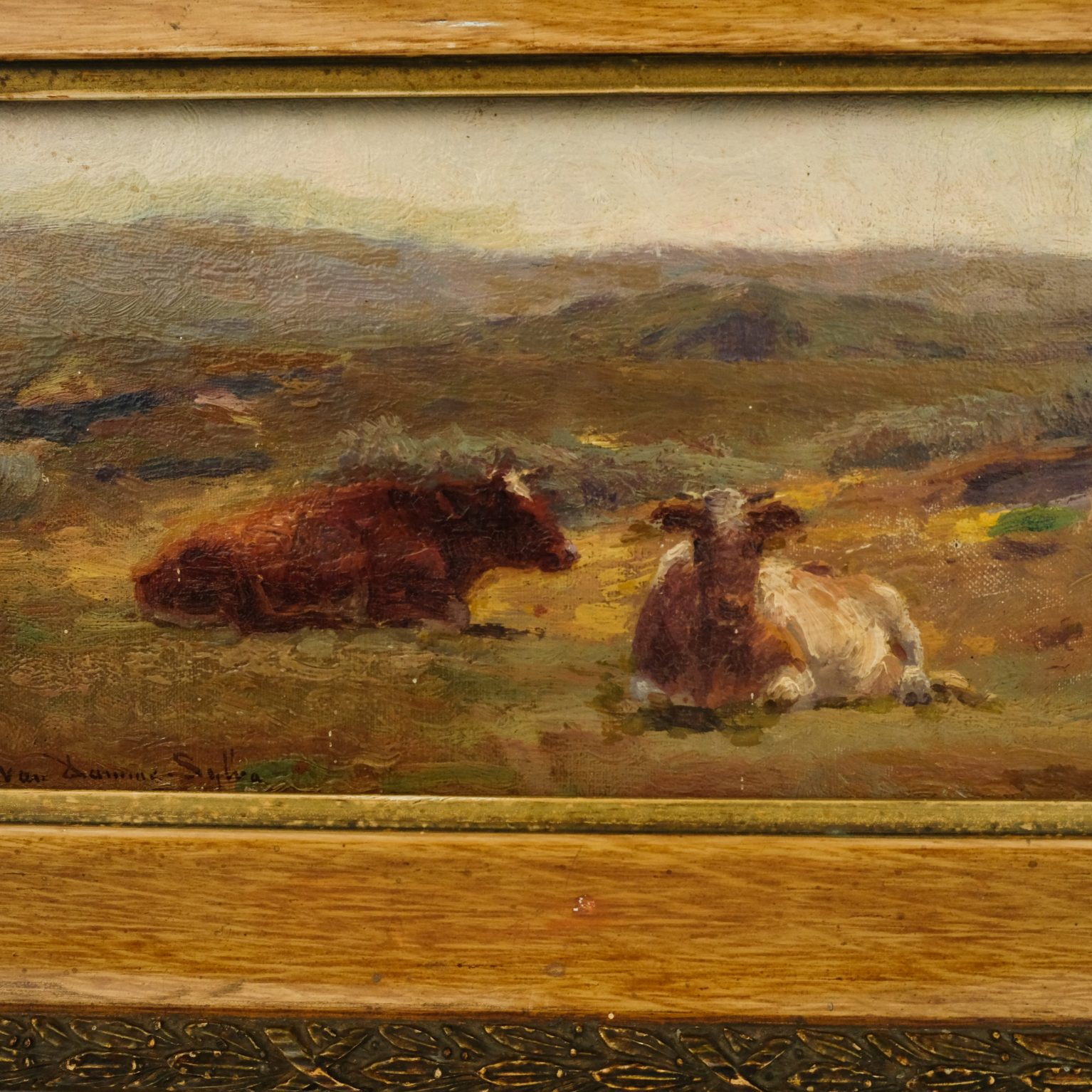 Emile van Damme-Sylva (1853-1935) – Koeien in het veld