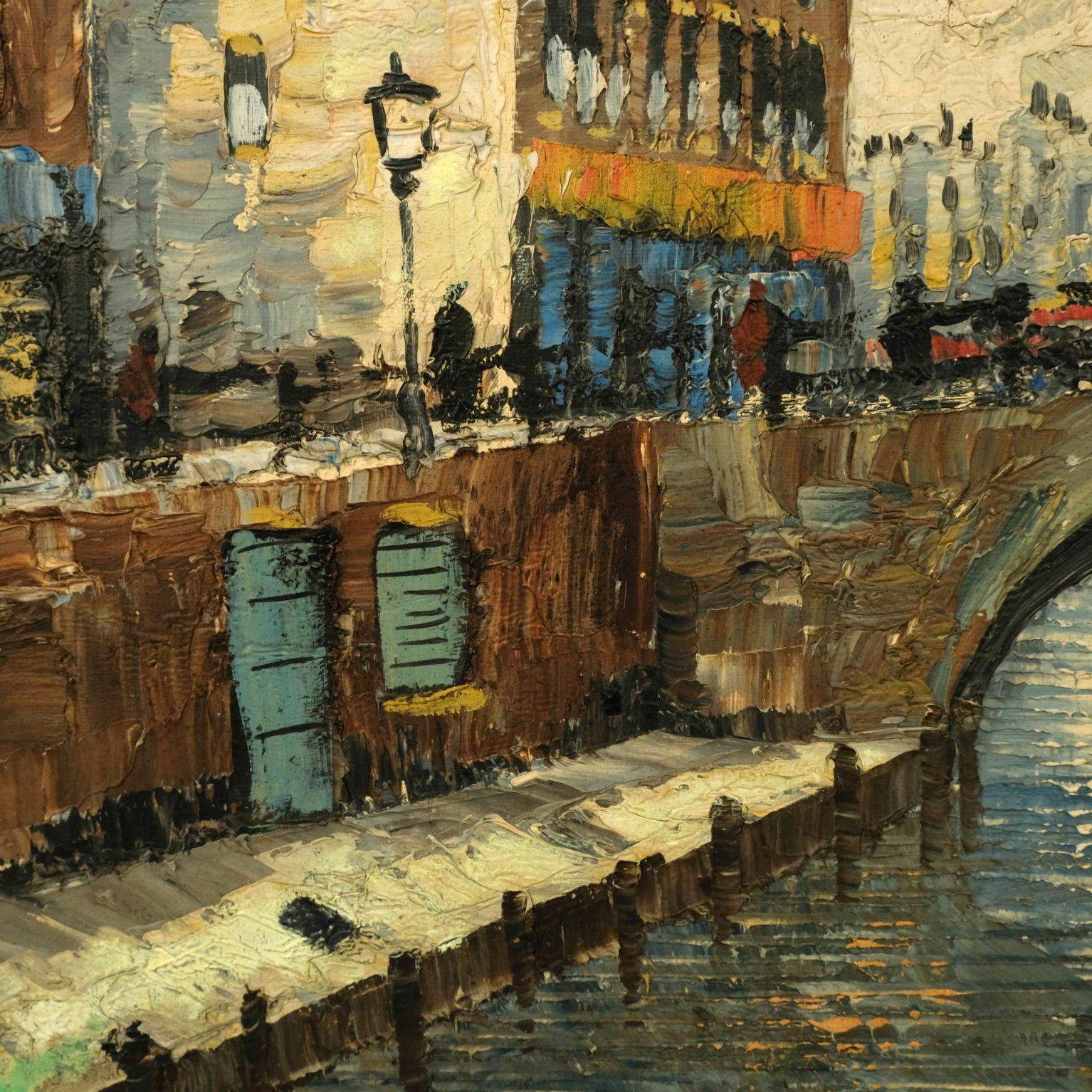 Stadsgezicht met rivier