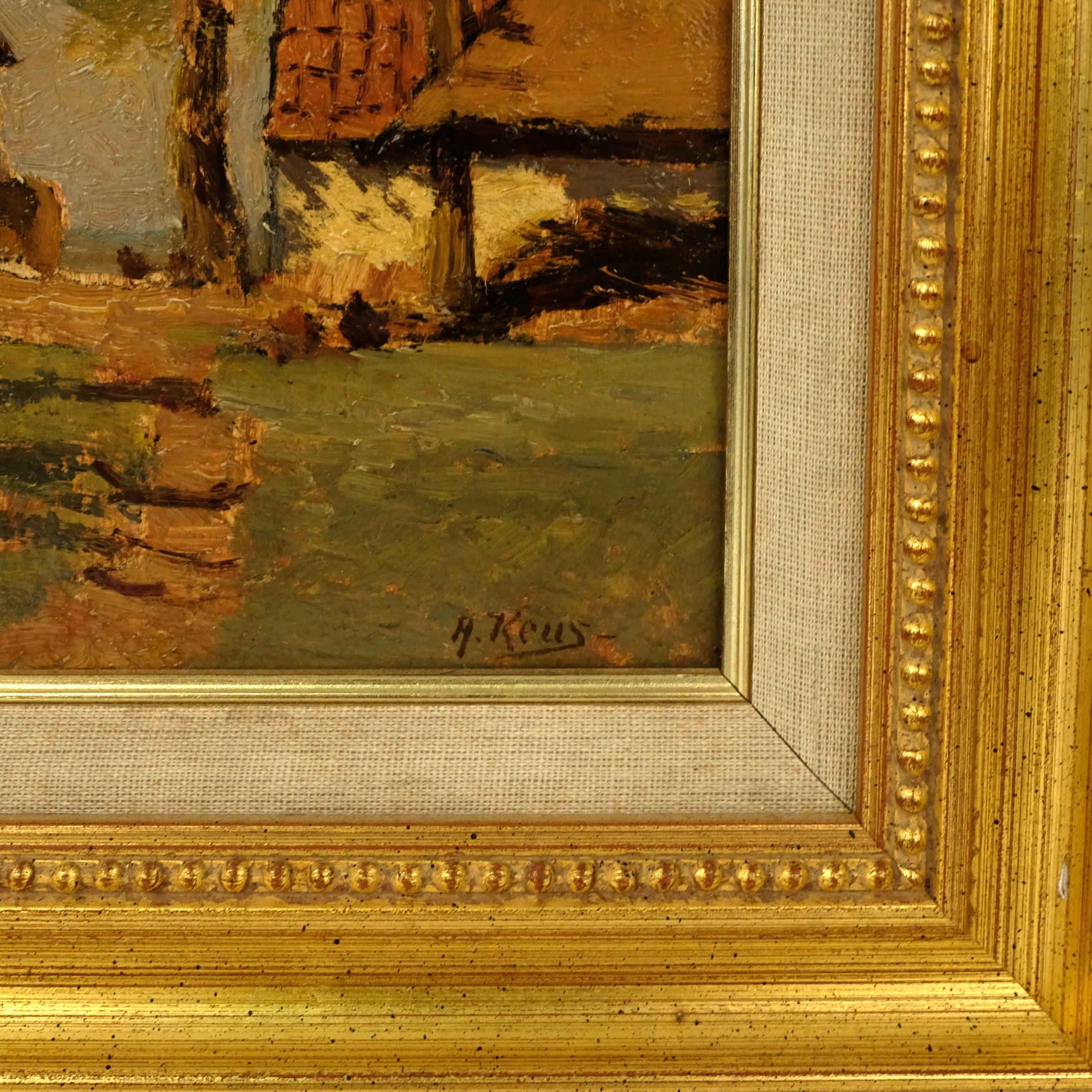 Adriaan Keus (1875-1955) - Boerderij met schuren